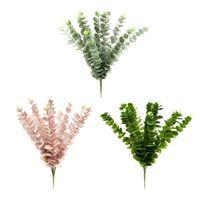 1 adet Düğün Dekor Yeni Varış Yapay Hava Tesisi Yapay Bitki Etli Bez Ofis Yapay Bitki Yeşil Çim Sahte Yaprak Yeşillik
