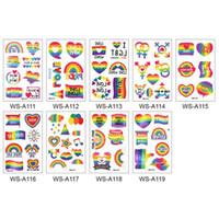 Fierté LGBT Jour de tatouage temporaire autocollant motif arc-en-amour est l'amour Body Fashion Art Hommes Femmes ZC2347