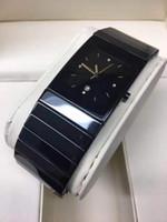 reloj de cerámica movimiento de cuarzo reloj de moda hombre nuevo para el reloj de pulsera negro hombre relojes de cerámica rd28