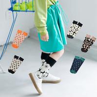 Moda New Chidlren Meias Crianças Flores Knee Alto Meias Meninos Meninas Knitting Casual Long Socks Kids Mocks A2369