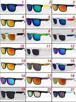 21 색상 50PCS 공장 가격 CYCLING 스포츠 새로운 패션 화려한 반사 코팅 선글라스 사이클링 스포츠 눈부신 선글라스 프로 모션