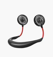 Appassionato pigro sport appeso collo ventilatore esterno conveniente ricarica creativo studente desktop ventilatore mini USB piccolo ventilatore elettrico doppio ventole di raffreddamento