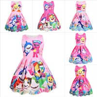 2019 mädchen baby shark dress sleeveless weste sleeveless dress neue kinder schöne cartoon sommer party kinder mädchen dress