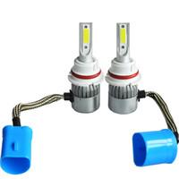 2PCS 9004 HB1 LED السيارات الخفيفة العلوي للمصابيح الأمامية الضباب التحويل لمبة ضوء 72W