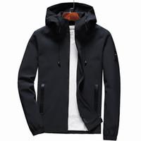 Chaqueta de estilo coreano vendedor caliente de los hombres de la capucha delgada primavera y otoño Jóvenes Locomotora viento-resistente chaqueta Cardigan etiquetado