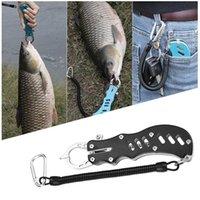Pêche en acier inoxydable Gripper poisson Lip Trigger Grip Grab verrouillage Pince Pince Carp Portable Pêche Lip Grip pêche Tackle Outils