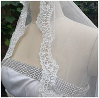 Beaded Flower Lace Waltz Veil With Comb Soft Taiwan Tulle Iv...