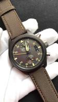 2019 슬리퍼 트리플 고급 제한 비행 남성 시계 자동 또는 석영 316 강 달 24 시간 근무 43mm 디자이너 남성 시계