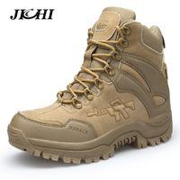 Jichi Männer Militärstiefel Kampf Herren Chukka Ankle Boot Tactical Big Size Armee Stiefel Männlich Schuhe Sicherheits-Motorradstiefel CJ191205