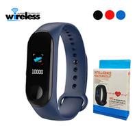M3 Smartband Fitness Tracker Bracelet intelligent Blood Pressure Moniteur de fréquence cardiaque bande à puce étanche PRO Wristband bande intelligente
