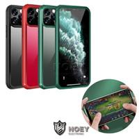 Para iPhone 11 Pro XS Max XR Teléfono Móvil disco duro de cristal templado transparente del caso de lujo del teléfono celular de la contraportada de Shell Diseño a prueba de golpes Casos Noey