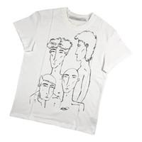 T-shirt da uomo Mens Designer T-shirt Peter Do Della Mano Dipinto Ritratto Ritratto Stampa Allentata Maschio Maglietta Femminile T-Shirt Cotton Street Street Street Manica corta Casu