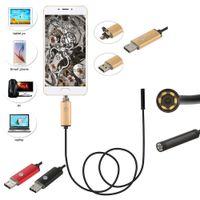 7 millimetri Lens 2m cavo USB Snake endoscopio fotocamera Borescopes per Android Phone e PC per l'automobile della macchina fotografica di riparazione di ispezione