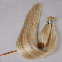 """300strands Flat Tip Keratin Hair، Fusion Hair Extensions مزدوج مسحوب ريمي الشعر التمديد 1.0g s 300G Pre Bonded 16 '' 18 """"20"""" 22 """""""