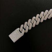 3 fileiras Cubic Zircon Pong Chain Chain Chain Dropshipping