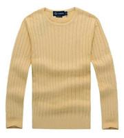 lauren ralph polo Ralph lauren shipping nouveau pull-over Pull en tricot de coton pull torsadé pour la marque de polo Wile de mile de haute qualité des hommes de haute qualityO2V7