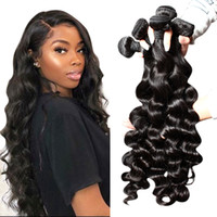 بيلا Hair® مل 3pcs الكثير / MinkHair Brazilianhair شعر الإنسان نسج 8A الأسود الطبيعي اللون فضفاض موجة عميقة شعر إمتداد مزدوجة اللحمة