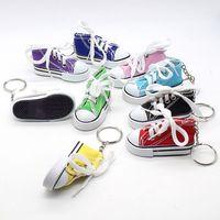 3D 참신 캔버스 운동화 테니스 신발 키 체인 키 체인 파티 쥬얼리 시뮬레이션 스포츠 신발 펜던트 선물 ljja1069