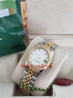 Melhor venda de luxo 26mm 31mm senhoras datejust 178383 diamante bezel branco pérola mãe com diamantes relógio das mulheres automáticas clássicas