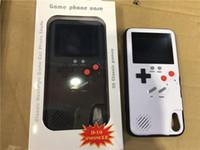 يده لعبة لوحات هلام السيليكا واقية كم البسيطة ريترو البسيطة لعبة وحدة الهاتف حالة قابلة اللون lcd ل iphone678plus x xs