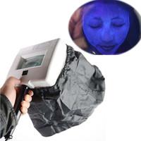المحمولة وودز مصباح الأشعة فوق البنفسجية للبشرة المكبرة مصباح للتجميل بشرة الوجه محلل اختبار الخشب ضوء مصباح الوجه جهاز تحليل