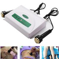 Masajeador de ultrasonidos portátil para la piel antiarrugas ajuste cuerpo adelgazante ultrasónico máquinas de masaje facial en casa con 2 unids sondas de titanio