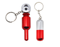 미니 19mm 이동식 금속 필터 개폐식 파이프 키 체인 담배 파이프 허브 담배 파이프 선물 Narguile keychain Grinder Smoke