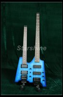 Starshine Bass Guitar YL-DB21 Double Headless Guitar Populer Style Flamed Maple Bass Guitar senza testa