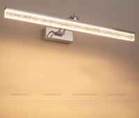 Modern Paslanmaz Çelik Alüminyum LED Duvar Lambası Banyo Su Geçirmez Ayna Kabine Vanity Ön Ayna Işık Dresser Aydınlatma Yeni LLFA