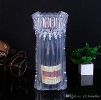 سعر المصنع! 32 * 8 سم الهواء Dunnage حقيبة الهواء مليئة زجاجة النبيذ واقية التفاف نفخ الهواء وسادة العمود أكياس التفاف مع مضخة