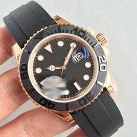U1 Factory Мужские часы Авто Дата сапфировое стекло Мужской Наручные часы Механические автоматические движения розового золота Безель каучуковый ремешок Спортивные часы