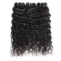 Cheveux vierges brésiliens d'eau vague 3 Bundles humide et ondulé vierge brésiliens Bundles de cheveux humains malaisiens bouclés armure de cheveux extensions