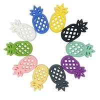 Baby pineapple Teether Food grade silicone Teething Toy cart...