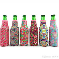 Blank Blanks Lilly Bottle Wrap Neoprene Beer Cooler Corona gioiello Coral Flamingo Rose Mucho Printing Can Cover
