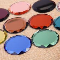 bolsillo gota Shipp nuevo diamante fino espejo compacto en blanco Ronda de metal de maquillaje Espejo Espejo del regalo de boda de bricolaje Costmetic