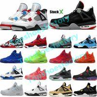 2020 FIBA SILT 레드 스플래터 4 4S JUMPMAN 농구 신발 남성 멋진 회색 스텔스 오레오 화이트 시멘트 망 디자이너 신발 36-47