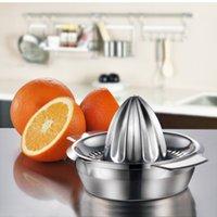 laranja limão portátil manual de frutas espremedor 304 inoxidável acessórios de cozinha em aço ferramentas de citrus mão de 100% cru pressionado fabricante do suco