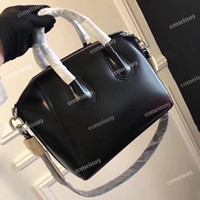 Top Qualität Frauen Original Rindsleder Handtasche Tote W Gürtelriemen 33 cm Schwarze Antigona Tasche Mode Schulter Crossbody Taschen 28 cm frei