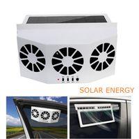 3 fã de carro refrigerador ventilador solar ventoso exaustão portátil automático auto ventilador solar janela traseira ar ventilação demister sistema de ventilação