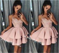 Маленький Короткие Sexy бретельках Homecoming платья мини Короткие кружева Блестки Короткие платья выпускного вечера женщин платья коктейль