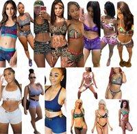 16 Couleur Femmes Designer Maillot de bain Halter Push Up Top Bra + Shorts Slips 2 pièces Bikini Set Maillots de bain Maillots de bain Maillot de bain Beachwear D7202