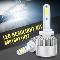2 개 자동차 led 헤드 라이트 전구 키트 H1 H7 H4 9005 HB3 9006 HB4 H11 교체 자동차 헤드 라이트 Halogon 전구 안개 램프 전구