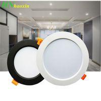 Haoxin LED Downlight 3W 5W 7W 9W 12W 15W Rodada recesso lâmpada 220V Led Bulb Quarto Cozinha Interior LED Spot iluminação