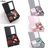 Forma Day Bouquet multicolore di fiori artificiali fiore della Rosa di San Valentino Angelo sapone romantico regalo con box Roses