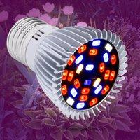 E27 LED تنمو كامل الطيف Fitolamp E14 بقيادة مصباح تزايد 18W 28W داخلي أدى فيتو مصباح 220V الأشعة فوق البنفسجية على النباتات المائية