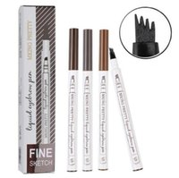 4 Head Fine Sketch Liquid Pencil Microblading Eyebrow Tattoo...