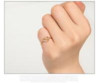Infinity nudo simple del anillo del nudillo del corazón del nudo de anillos abiertos para la joyería de las mujeres de compromiso de boda del regalo F0058 mayorista