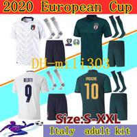2019 2020 European Cup Italia Soccer Jerseys Kit Squadra nazionale Italia Insigne Belotti Verratti Kean Bernardeschi Camicia da calcio Uniformi