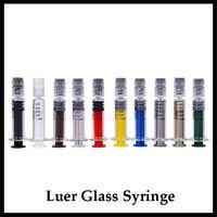 Seringa De Vidro colorido 1 ml com Luer Lock 1CC Marca de Medição De Acrílico Injector para Cartucho Vape Óleo Grosso Prefilling