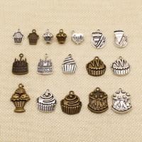 60 قطعة يدوية مجوهرات اكسسوارات أجزاء عيد ميلاد سعيد الاحتفال كعكة كب كيك HJ099